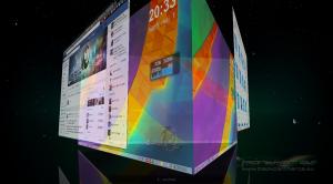 blackPanther OS 3D asztali effektek, Plasma asztali kocka