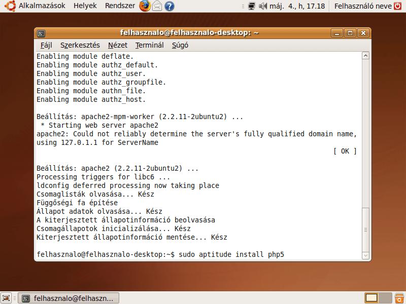 php5 telepítése